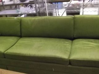 long green sofa