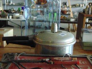 Miller High life light up sign  pressure cooker pot  water dispenser  old tool and more