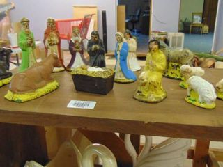 Old nativity scene figures