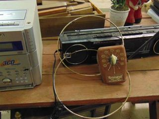 CD player and boom box
