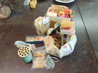 lot of craft supplies