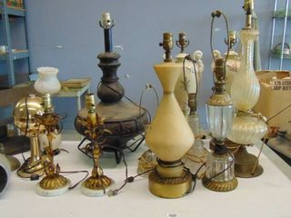 lot of various lamps