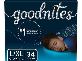 GoodNites Boys  Bedtime Underwear   Size l Xl   34 Pack