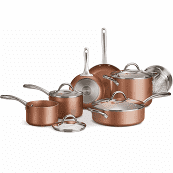 Tramontina 12 Piece Metallic Copper Cookware Set