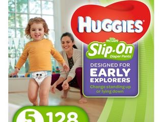 Huggies little Movers Slip On Diaper Economy Plus Pack   Size 5   128 Pack
