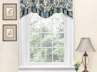 Waverly Navarra Floral Window Curtain Valance