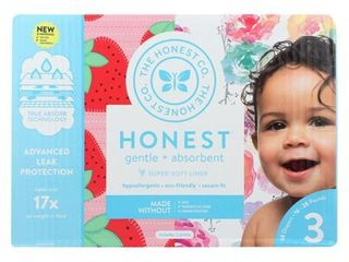 Honest Company Rose Blossom Strawberries Diapers Club Pack   Size 3   68 Pack