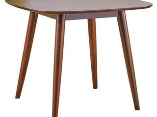 Wynonna Mid Century Modern Square Faux Wood Dining Table by Christopher Knight Home  Retail 153 99