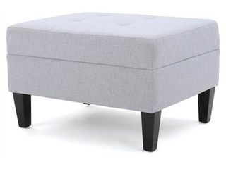 Zahra Tufted Fabric Ottoman by Christopher Knight Home   Retail 121 99