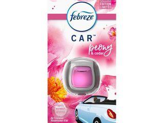 Febreze Car Odor Eliminating Air Freshener Peony   Cedar   0 06oz   set of 2