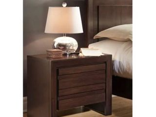 2 DrawerNight Stand w  Charging Station TESTED POWER STATION WORKS  Brown