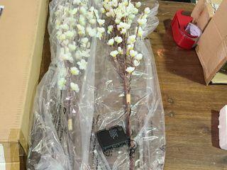 Bethlehem lights Set of 2 Illuminated Decorative Spring Branches Ivory