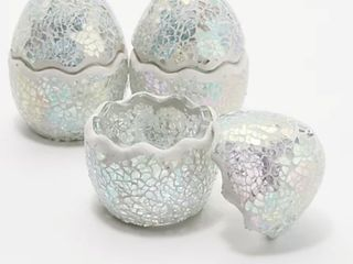 Set of 3 Mosaic Cracked Eggs by Valerie