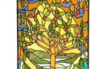 Chloe Tiffany style  Tree of life  Stained Glass Window Panel  186 99