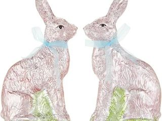Set of  2  9  Foil Wrapped Bunnies by Valerie