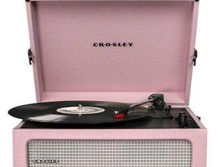Crosley Voyager Turntable Pink   Powers On