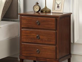 Canfield Brown 3 drawer Nightstand by Greyson living  Retail 239 99
