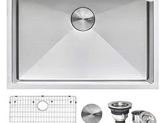 Ruvati 28 inch Undermount 16 Gauge Tight Radius Stainless Steel Kitchen Sink Single Bowl   RVH7250  Retail  239 99