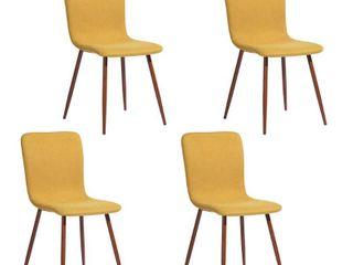 FurnitureR Scargill Yellow Fabric Dining Chair  Set of 4  Retail  177 99