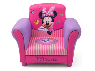 Delta Children Minnie Mouse Upholstered Chair  Retail  139 99