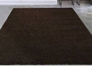 Sweet Home Stores Cozy Shag Collection Shag Rug Contemporary living and Bedroom Soft Shaggy Runner Rug  5 3a X 7 0  Brown