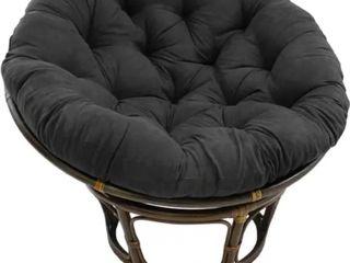Blazing Needles 52 inch Papasan Cushion   Black