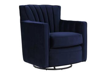 Copper Grove Hasselt Velvet Swivel Arm Chair  Retail  362 99