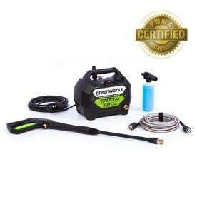 Greenworks 1700 PSI 1 2 Gallon GPM Water Electric Pressure Washer   powers on