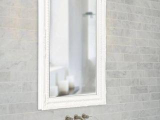 Queen Ann Rectangular Mirror White