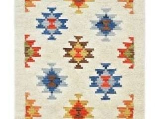 Roger Contemporary Shaggy Moroccan Hand Woven Runner   9  x 12    Multi RETAIl  707 00