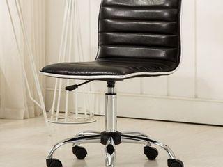 Roundhill Furniture Fremo Chromel Adjustable Air lift Office Chair  Black