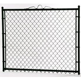 Black Galvanized Steel Chain link Walk Gate  Fits Opening 48  Actual  44 in x 48 in  AS IS