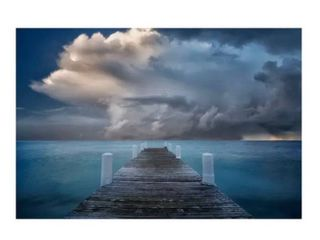 Colossal Images   Dreamy Dock   Canvas Wall Art   36x54 RETAIl  274