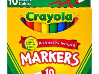 10 Crayola Markers Broad line 10ct Classic