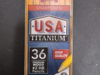 3 36ct Usa Titanium Pre sharpened 2 Hb Premium Wood Pencils High Quality