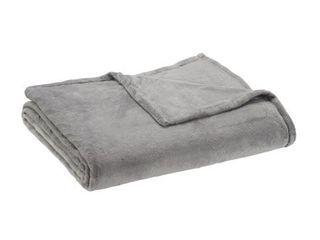 Mainstays King Super Soft Plush Bed Blanket in light Gray