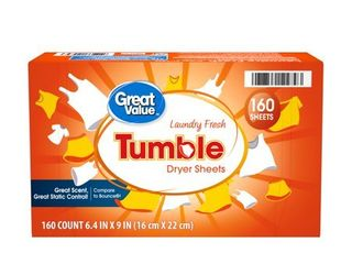 Great Value Tumble Dryer Sheets  laundry Fresh