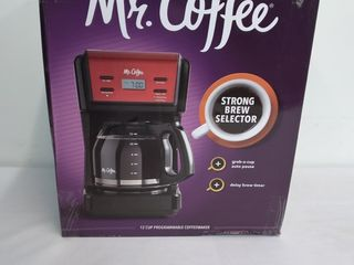 Mr  Coffee 12 Cup Programmable Red Coffee Maker