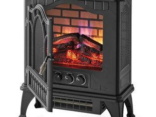 Mainstays 3D Electric Stove with life like Flame   Sparks Black