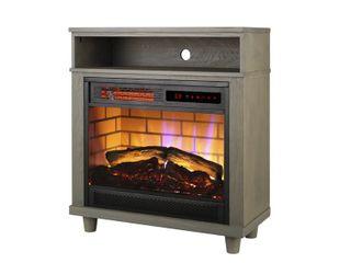 Mainstays 26  Freestanding Wood Mantel Fireplace Heater  Grey Finish  FP404RN