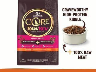 Wellness CORE RawRev Natural Grain Free Small Breed Dry Dog Food  Original Turkey   Chicken with Freeze Dried Turkey  10 Pound Bag