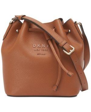 Dkny Noho leather Drawstring Bucket Bag  Created for Macy s