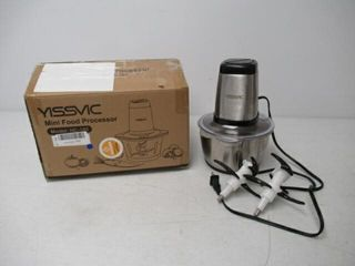 Used  Food Processor YISSVIC 500W 8 Cup Food