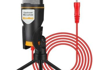 GlowGeek PC Microphone with Mic Stand