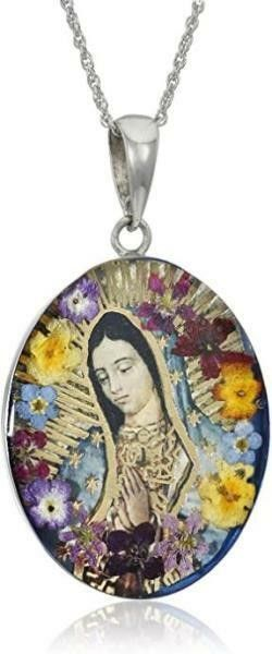 Sterling Silver Virgin Mary of Guadalupe Pressed