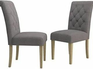 2  Roundhill Furniture Habit Solid Wood Tufted