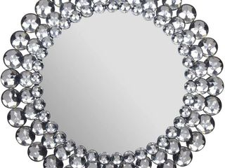 Everly Hart Collection Round Jeweled  17  Mirrors
