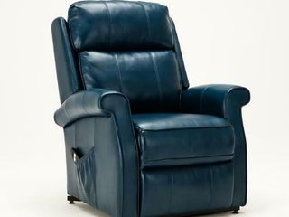 lehman Navy Blue Semi leather Traditional lift
