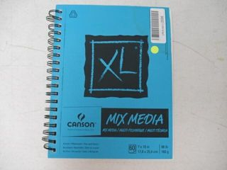 As Is  Canson Xl Mix Media Pad  7 X10  Side Wire