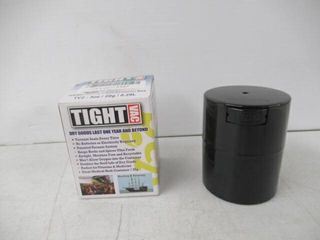 Tight Vac Herb   Spice Container  3oz  Black